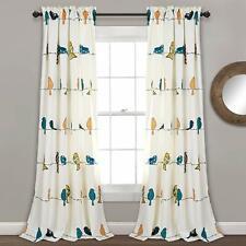 "Lush Decor Rowley Birds Darkening Window Curtains Panel Set for Living Room 84"""