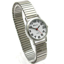 Ravel Ladies Stainless Steel Soft Expanding Bracelet Strap Watch R0208.02.2s