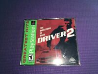 Driver 2 GH Greatest Hits PS1 Complete PlayStation Sony Rated T-Teen Infogrames