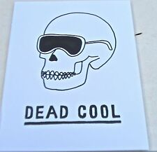 James Joyce Skull Poster Dead Cool-Skull w/ Shades 14x11 Unsigned Offset Litho