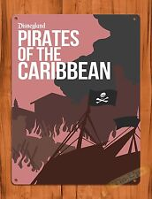 TIN SIGN Disney Pirates Of The Caribbean Ride Art Poster Attraction