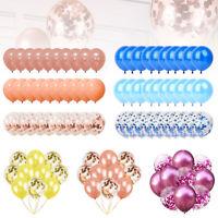 10/30X Confetti Latex Ballons De Mariage Hélium Décorations De Fête Baby Shower