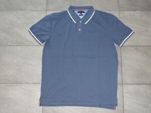 Tommy Hilfiger Herren Poloshirt Regular Fit Gr. 2XL XXL Faded Indigo Neu TOP!!!