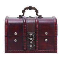 Multi Vintage Jewelry Necklace Bracelet Gifts Box Storage Organizer Wooden  Z6Y8