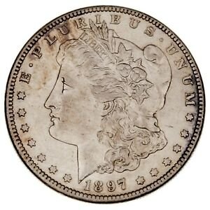 1897-O $1 Silver Morgan Dollar in AU Condition, Nice Eye Appeal and Luster