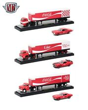 "AUTO HAULERS ""COCA-COLA"" RELEASE, 3 TRUCKS SET 1/64 BY M2 MACHINES 56000-70S01"