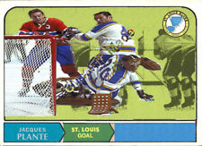 Custom made opc 1968-69  St. Louis Blues Jacques Plante hockey Card White