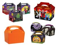SPOOKY HALLOWEEN PARTY MEAL BOXES - KIDS CHILDREN TRICK OR TREAT FOOD SWEET BAG