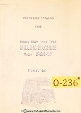 Osaka MDH-5P, Milling Parts List and Assemblies Manual Year (1969)