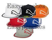 PUMA Cat Logo Rickie Fowler Monoline Fitted Baseball Cap S/M L/XL Golf Tour Hat