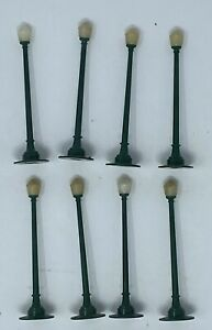 1950s Plasticville 8 Single Street Light Posts for Train Layout by Bachmann Bros