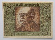 """75 Pfennig """" Kolonial Gedenktag , von Bismarck """""""