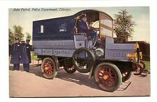 Vintage Postcard CHICAGO Auto Patrol Police Department early paddy wagon