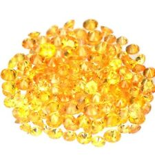 NATURAL UNHEATED YELLOW SONGEA SAPPHIRE GEMSTONES (15pcs / 1.7 mm) ROUND SHAPE