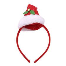 Christmas Novelty Santa Hat Motif Alice Hair Band Headband Xmas Accessories one