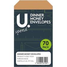 70 Brown Dinner Money Envelopes School Trip Money Packet