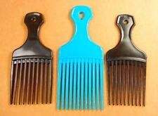 Hair Pick Lift Lot Of 3 Colors Two Black One Blue