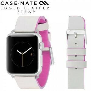 Genuine Case Mate Apple Watch 38mm Sport Edition Leather Band Strap Rose Pink