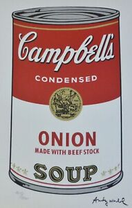 ANDY WARHOL CAMPBELL'S SOUP I ONION SIGNED HAND NUMBERED 1619/3000 LITHOGRAPH