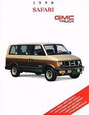 1990 GMC SAFARI Van Brochure with Color Chart: SLT,SLE,SLX,GT