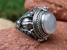 POISON RING 925 SILVER MOONSTONE UK SIZE L * U.S 5.75 SILVERANDSOUL JEWELLERY