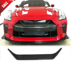 For Nissan R35 GTR 17-19 Dry Carbon Front Bumper Grill Grille Mesh Trim Cover