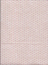 "New Light Pink Polka Dots on White 100% Cotton Fabric 26"" x 42"" Piece"