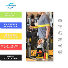 5 /Set Resistance Bands Loop Exercise Workout CrossFit Fitness Stretching Yoga