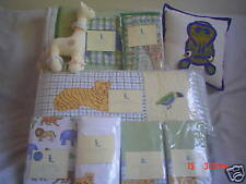 Pottery Barn Kids At The Zoo Quilt Bumper crib set 8pcs