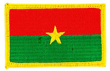 FLAG PATCH PATCHES Burkina Faso BURKINABE IRON ON COUNTRY EMBROIDERED WORLD FLAG