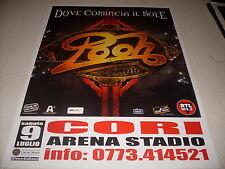 """POOH - LOCANDINA POSTER TOUR """" DOVE COMINCIA IL SOLE """" 30 x 42"""