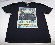 Star Wars Death Star Fight Club Mens Black Printed T Shirt Size XS New
