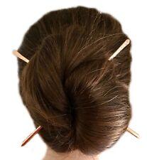 2 Metal Hair Sticks, Copper Hair Pin Holders, Brass Wavy Hair Chopsticks, Gift