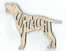 Curly Coated Retriever Dog laser cut wood Magnet