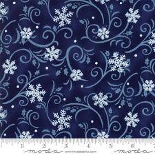 MODA Fabric ~ SNOW MUCH FUN ~ Deb Strain (19805 12) Midnight Blue - by 1/2 yard