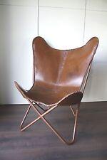 MIRAVEZ Design Stuhl BKF Butterfly Chair Faltstuhl Ledersessel Hardoy Vintage