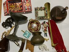 Vtg Grandpas Estate Junk Drawer Lot Knife Trinket Figurines