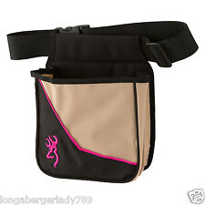 BROWNING CIMMARON II FOR HER PINK TRIM LOGO SHOTGUN AMMO SHELL SKEET POUCH BELT
