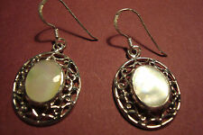 Genuine Indian 925 Silver & Gemstone Cabochon  Earrings~M~O~P~S22~uk seller