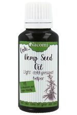 NACOMI HEMP SEED OIL COLD PRESSED SKIN PROBLEMS DEHYDRATED  FACE BODY VEGAN 30ml