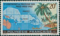 French Polynesia 1962 Sc#198,SG22 20f South Pacific Conference Pago-Pago MLH
