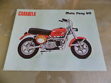 1980 Carabela Moto Pony 60_2-Stroke 60cc Mini-Bike ORIGINAL! Sales Brochure