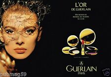 Publicité advertising 1991 (2 pages) Cosmétique Maquillage L'Or de Guerlain