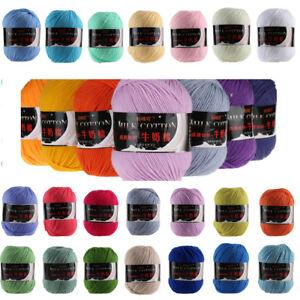 50g Worsted Natural Bamboo Milk Cotton Knitting Wool Yarn Ball Super Soft 3Ply
