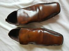 MENS NEXT SIGNATURE BROWN SLIP ON SHOES SIZE 7