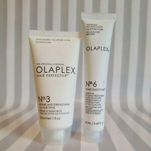 Olaplex No. 3 & No. 6 Hair Perfector Repair Strengthen Trial/Travel Sealed New