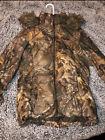 Mossy Oak Break-Up Infinity Puffer Jacket Large Camouflage Hooded Parka