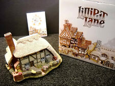 Lilliput Lane Saxon Cottage English South East Nib No Deed 1988 Mini Masterpiece