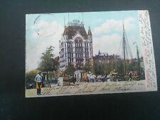 Nederland ansichtkaart Rotterdam Witte Huis verzonden 1905 naar hamburg