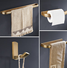 4 pcs Antique Brass Bathroom Hardware Accessories Set Wall Mount Towel Rack Bar
